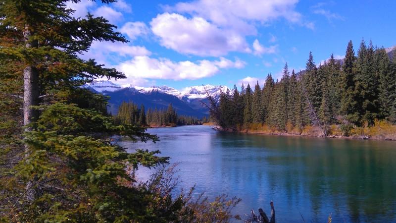 Postkartenfoto nahe Banff