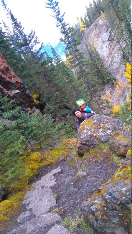 Aufstieg im Canyon